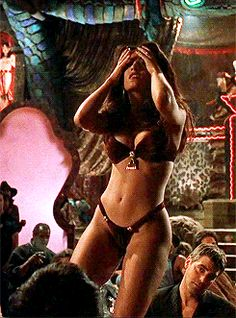 "famoussohottub: Salma Hayek dances to the end of love…. (Part 3 - ""From dusk till dawn)"