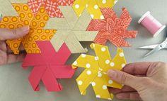 English paper piecing pentagons
