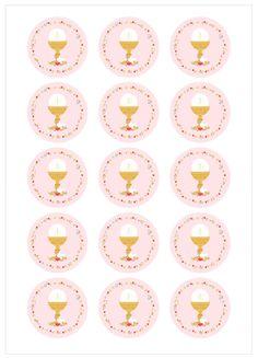 "Ver producto: Modelo nº 330C: Comunión de niña ""Dulce Merceditas"" Communion Centerpieces, First Communion Decorations, First Communion Favors, First Holy Communion, Love Stickers, Printable Stickers, Etiquette Vintage, Arts And Crafts, Diy Crafts"