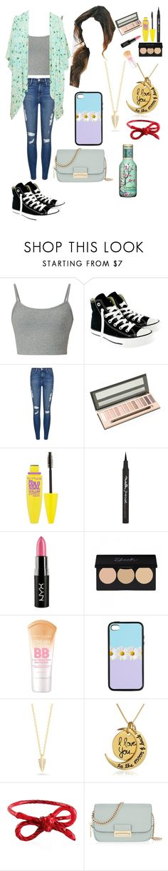 """""""Untitled #275"""" by i-found-wonderland ❤ liked on Polyvore featuring Converse, Frame Denim, Maybelline, NYX, Elizabeth and James, Areaware and Henri Bendel"""