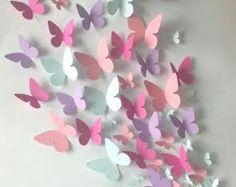 Papier Wand Schmetterling – Wandkunst – Papier Schmetterling von … Paper Wall Butterfly – Wall Art – Paper Butterfly of … Origami Butterfly, Butterfly Wall Art, Paper Butterflies, Butterfly Crafts, Paper Flowers, Beautiful Butterflies, Butterfly Mobile, Diy Butterfly Decorations, Butterfly Baby Shower
