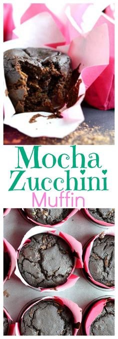 Mocha Zucchini Muffin - A yummy muffin recipe with cold brew coffee. This is perfect for the end of summer when you are tired of zucchini recipes. A fun twist on a classic zucchini bread. A perfect easy morning breakfast.