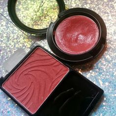 Whoa, just realized thatwetnwildblush in mellow wineis a perfectdupeforMAC creamblushinPosey(of course there is a d...