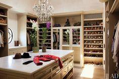 Gisele Bundchen's closet. Seriously.