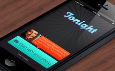Tonight mobile application iPhone UI