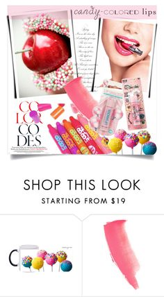 """Candy -Colored Lips"" by clotheshawg ❤ liked on Polyvore featuring beauty, Lancôme, Maybelline and Charlotte Tilbury"