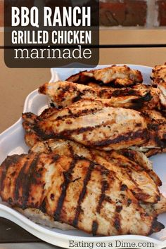 We just love this BBQ ranch grilled chicken marinade. It is one of our favorite grilled chicken recipes. Plus you just need 2 ingredients to make it. You can't get much easier than that!