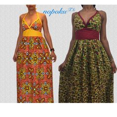 African Print Dress Floral DressesAnkara maxi by Nopoku on Etsy