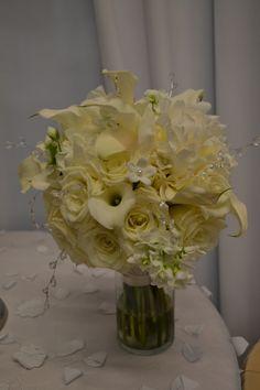 White Brides Bouquet Party Perfect Boca Raton, FL 561-994-8833