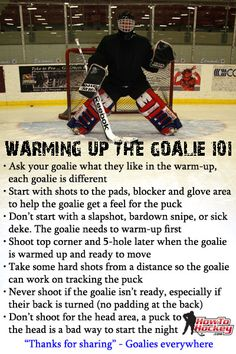 How to warm up a goalie. Created by HowToHockey.com Especially when my kid is that goalie!!!