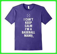 Mens Baseball Mama TShirt for Mother Mom Baseball Player Medium Purple - Sports shirts (*Amazon Partner-Link)