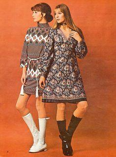 phong cách hippie nổi lên vào thập niên 70.