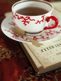 Perfect combination!  Good book + Good tea