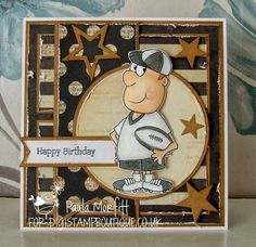 See related links to what you are looking for. Birthday Cards, Happy Birthday, Masculine Cards, Sport, Rugby, I Card, Fathers Day, Stamp, Baseball Cards