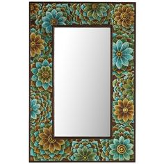 Blue Bouquet Mirror from Pier1 on shop.CatalogSpree.com, your personal digital mall.