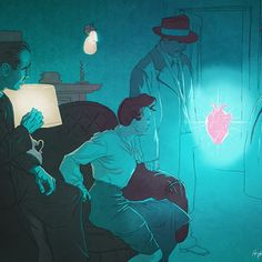 #mafianguys #mafia #heart #woman #momy #draw #popart #illustration #digitalart #night #poster