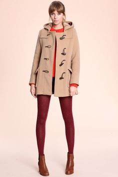 Duffle coat with hood - would love in black, blue, burgundy, deep ...