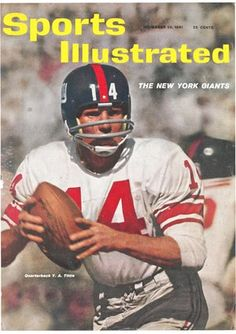 Sports Illustrated November 1961 - NFL Football New York Giants Y. New York Giants Football, Best Football Team, Football Pictures, Nfl Football, Football Players, New York Giants Memes, New York Giants Logo, Sports Magazine Covers, Si Cover
