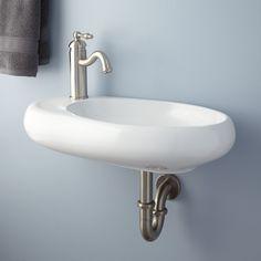 Carlene Wall-Mount Sink Bathroom Sink with Built-In Soap Dish