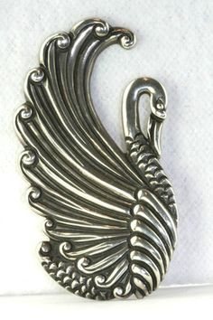 Ebay-VTG LARGE  MARGOT DE TAXCO MEXICAN STERLING SILVER SWAN PIN DESIGN NUMBER 5144 $595.00 Buy it now