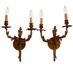 Pair of 1930s Art Nouveau Wall Sconces | 1stdibs.com
