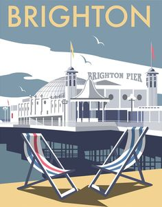 This Brighton Pier Art Print is created using state of the art, industry leading Digital printers. The result - a stunning reproduction at an affordable price. A stunning Art Print featuring the design of Brighton Pier. Posters Uk, Train Posters, Railway Posters, Art Deco Posters, Poster Ads, Modern Posters, Retro Posters, Portsmouth, Images Of England