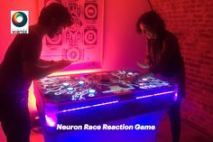 Neuron Race Reaction Game Hire - Trade Stand Entertainment and Attraction London, Kent & Surey Office Christmas Party, Christmas Party Games, Two Player Games, Cake Games, Indoor Games, Neurons, Woodland Party, Party Entertainment, Holiday Cocktails