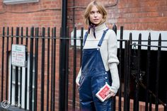 Street Style and Fashion Photography Phoebe Philo, Fall 2015, Wool Sweaters, Celine, Style Me, Overalls, Fashion Photography, London Fashion, Street Style