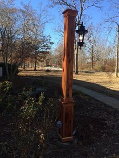 Norfolk lantern post the 5 12 sq post with 12 eased edges and eastern red cedar light post mozeypictures Images