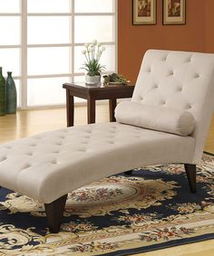 Another great find on #zulily! Taupe Velvet Button-Tufted Chaise Lounger #zulilyfinds