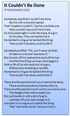 My 4th grade teacher in Jamaica, Mrs. Johnson, taught our class to memorize and recite this in 1979. Now, I'll teach it to my own boys.