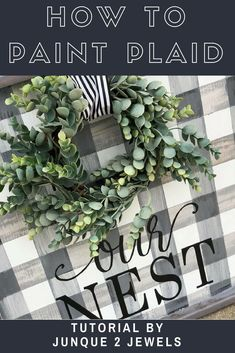 Buffalo Check or Buffalo Plaid is so on trend - no matter what you call it learn how easy it is to paint the pattern! Tutorial by Junque 2 Jewels #buffaloplaid #allplaideverything