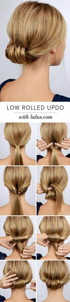 "Best Hairstyles for Summer - Low Rolled Updo Hair Tutorial - Easy and Cute Hair ., Easy hairstyles, "" Best Hairstyles for Summer - Low Rolled Updo Hair Tutorial - Easy and Cute Hair . - Source by Pretty Hairstyles, Easy Hairstyles, Hairstyle Ideas, Wedding Hairstyles, Hairstyle Tutorials, Casual Hairstyles, Hairstyles 2018, Latest Hairstyles, Hairstyle Images"