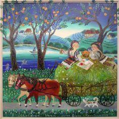 Moldova ~ Naive art by Elena Revutcaia