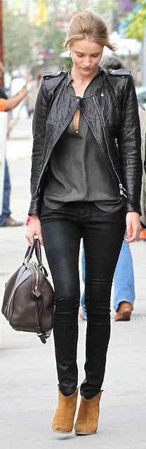 How to wear a leather jacket...metallic