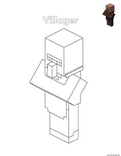 Villager Minecraft Coloring Pages Printable Minecraft Coloring Pages, Train Coloring Pages, Coloring Pages For Girls, Free Printable Coloring Pages, Coloring For Kids, Coloring Books, Minecraft Pillow, Power Rangers Coloring Pages, Captain America Civil War