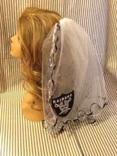Oakland Raiders Bachelorette Party Veil by studiolmichelle on Etsy, $35.00