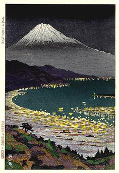 Fuji from Nihondaira - Woodblock Print by OKADA Koichi, Japan