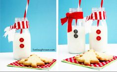 Snowman Milk Bottles Linda Bauwin CARD-iologist Helping you create cards from the heart.