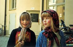 At Easter Swedish children dress up as witches and go door-to-door spreading Easter cheer and receiving candies or small coins in return… a little like Halloween, but without the option of choosing your own costume.