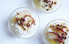//rice pudding with fresh pears & honey