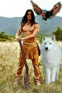 Apache Brave With His Two Animal Spirits. Apache Brave With His Two Animal Spirits. Native American Models, Native American Cherokee, Native American Warrior, Native American Pictures, Native American Wisdom, Native American Beauty, Native American Tribes, American Indian Art, Native American History