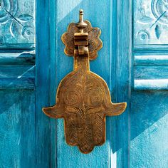 Hand of Fatima door knocker to keep evil out...