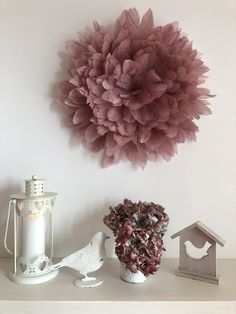 Hanging decoration from goose feathers, diameter 50 cm, pink color, hand made. Can be made to order Goose Feathers, Pink Color, Decoration, Handmade, Etsy, Home Decor, Homemade Home Decor, Decorating, Hand Made