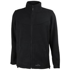 Men's Pasang Full Zip Heavyweight Fleece: Black S-2XL