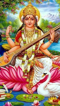 Jai Maa Saraswati  Jai Shri Sai Jai Maa Saraswati, Saraswati Vandana, Saraswati Goddess, Goddess Art, Saraswati Photo, T Wallpaper, Shiva Wallpaper, Lord Murugan Wallpapers, Drawing Competition