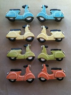 Scooter drawer pulls; VERY COOL!http://www.etsy.com/listing/94398731/furniture-knobs-and-drawer-pulls