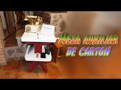 manualidades DIY: mesa auxiliar para el teléfono hecha de carton - youtu...