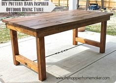 diy outdoor dining table inspired by pottery barn