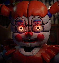 This so creepy Fnaf 5, Anime Fnaf, Fanarts Anime, Five Nights At Freddy's, Creepy, Fnaf Baby, Freddy 's, Fnaf Sister Location, Circus Baby